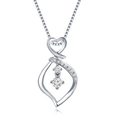 S09626P-18K/750 White Color Gold Diamond Pendant