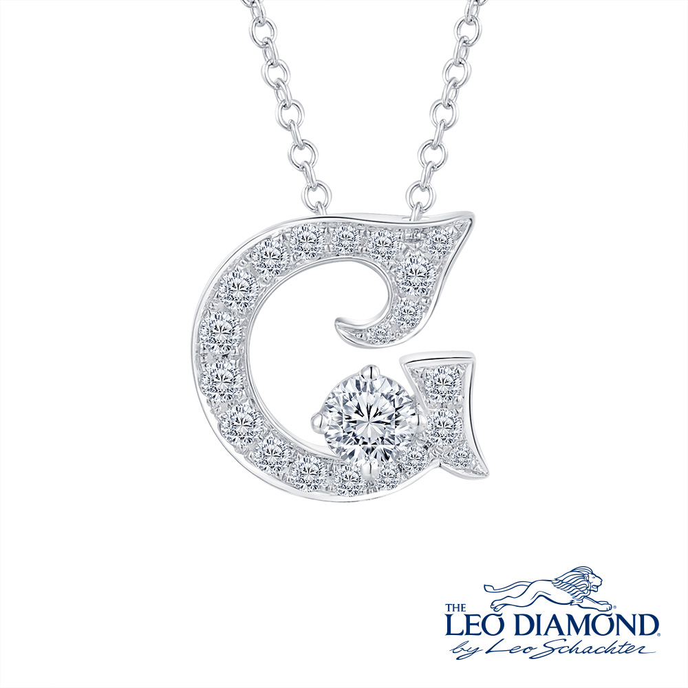 S10055P-The Leo Diamond® 18K/750 White Color Gold Diamond P..