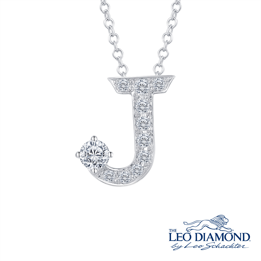 S10058P-The Leo Diamond® 18K/750 White Color Gold Diamond P..