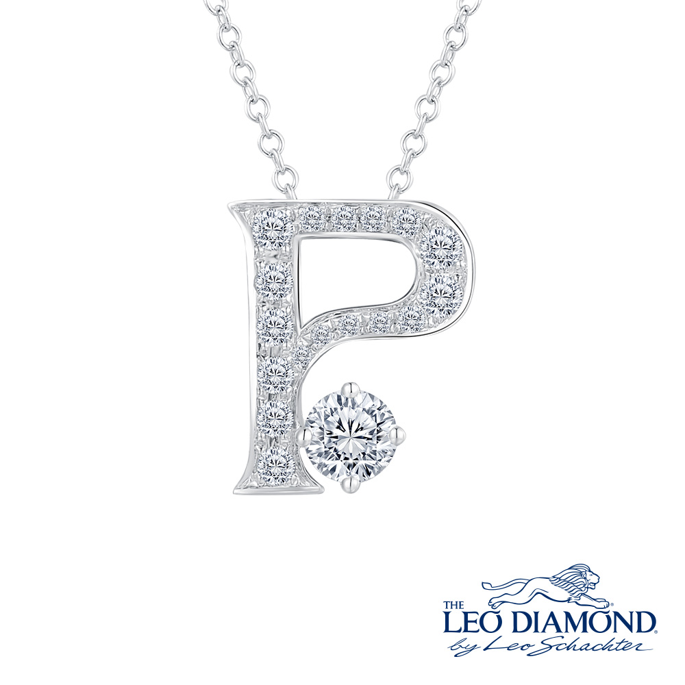 S10062P-The Leo Diamond® 18K/750 White Color Gold Diamond P..