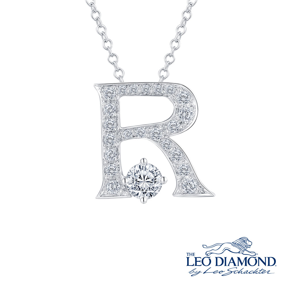 S10064P-The Leo Diamond® 18K/750 White Color Gold Diamond P..