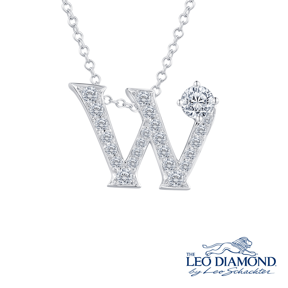 S10069P-The Leo Diamond® 18K/750 White Color Gold Diamond P..