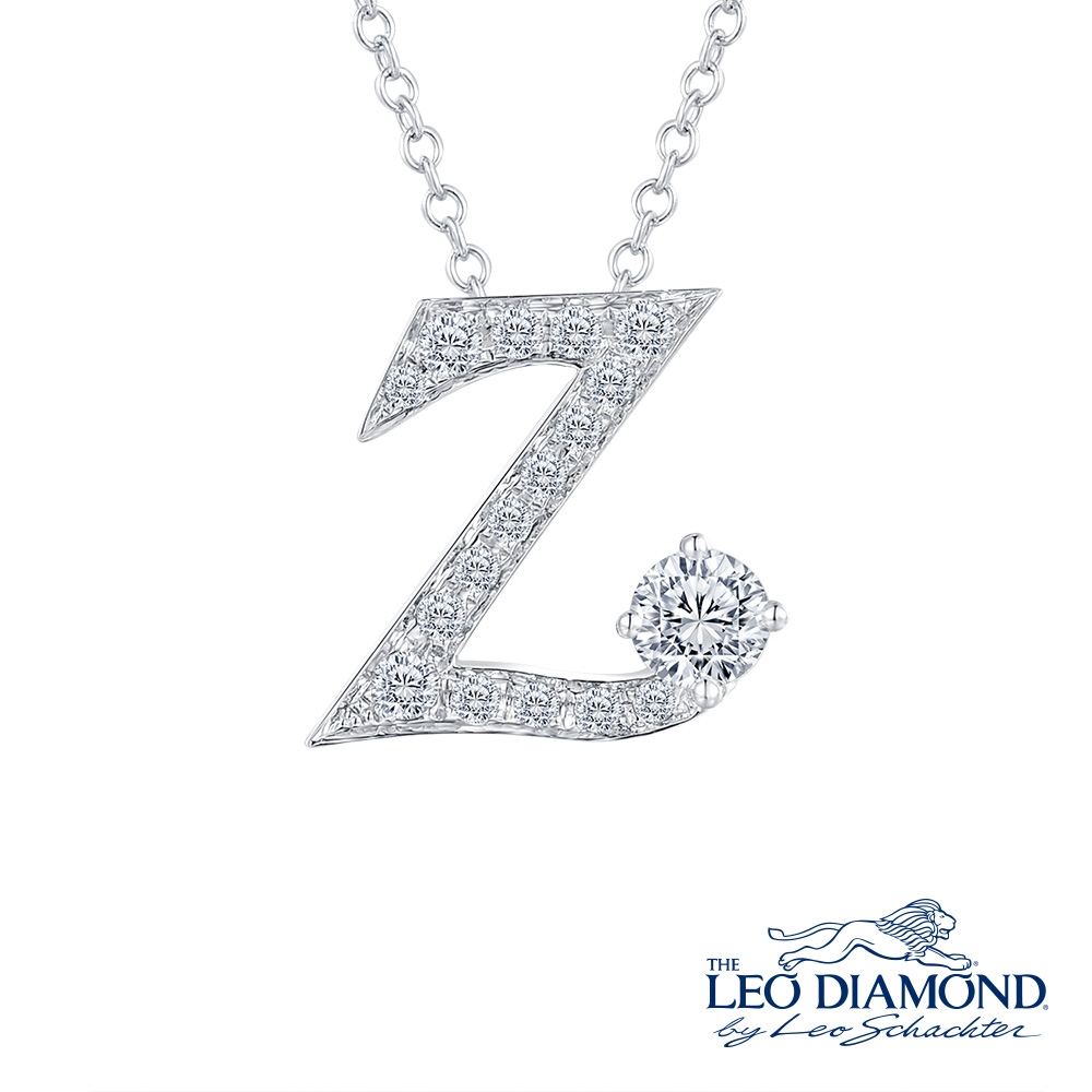 S10072P-The Leo Diamond® 18K/750 White Color Gold Diamond P..
