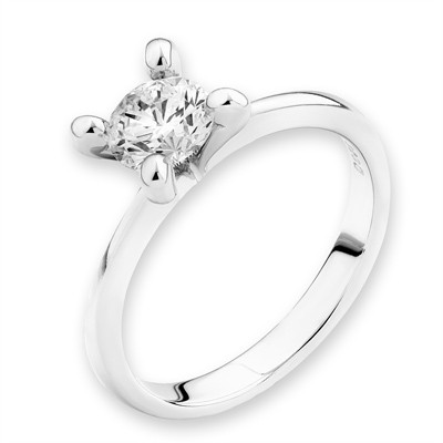 F03091R-18K/750 White Color Gold Diamond Ring