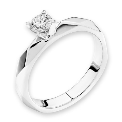 F05731R-18K/750 White Color Gold Diamond Ring