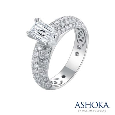 L00641R-ASHOKA® 18K/750 White Color Gold Diamond Ring