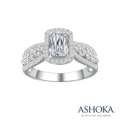 L02373R-ASHOKA® 18K/750 White Color Gold Diamond Ring