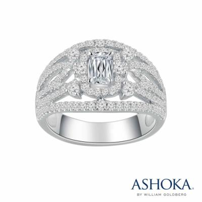 L02393R-ASHOKA® 18K/750 White Color Gold Diamond Ring
