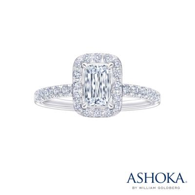 L02412R-ASHOKA® 18K/750 White Color Gold Diamond Ring