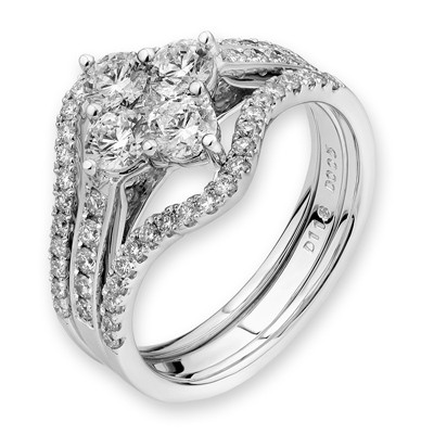 J11628S-18K/750 White Color Gold Diamond Set Ring