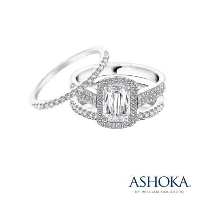 L01411S-ASHOKA® 18K/750 White Color Gold Diamond Set Ring
