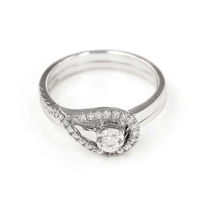 N02397S-18K/750 White Color Gold Diamond Set Ring