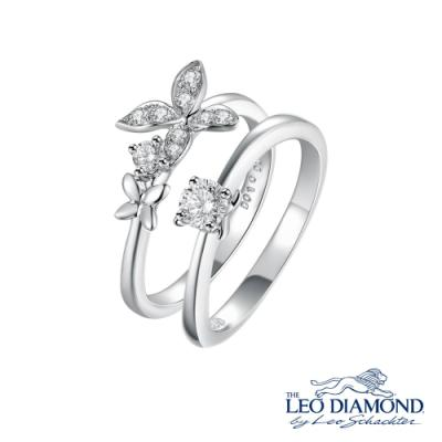 S08217S-The Leo Diamond® 18K/750 White Color Gold Diamond S..